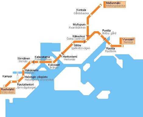станции метро Хельсинки